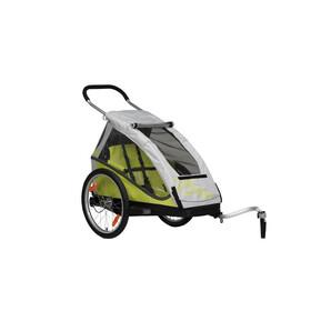 XLC Mono Fietstrailer geel/grijs